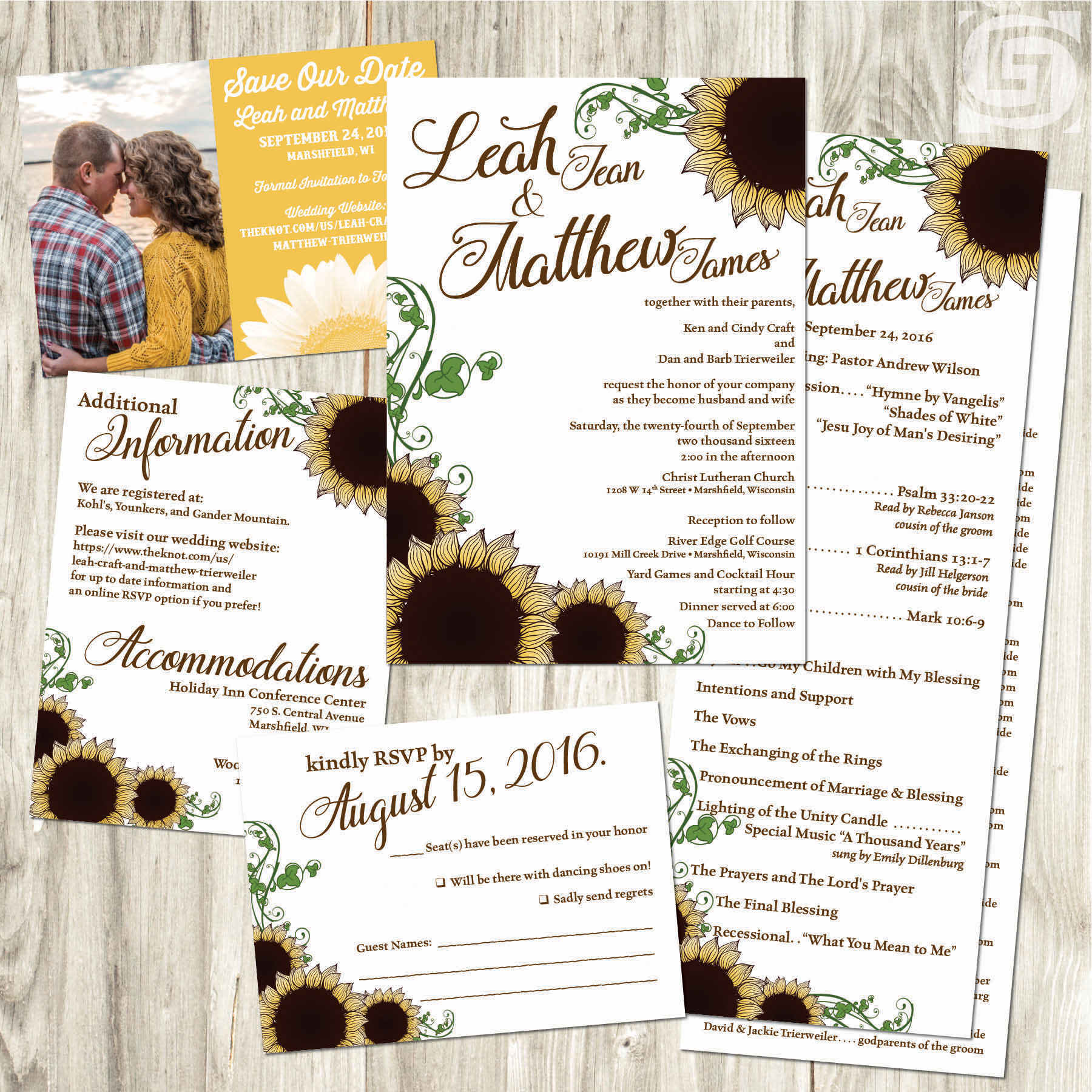 Wedding Invitations - Wolf\'s Grantland Graphics